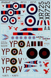 Xtradecal X48071 1/48 RAF 23 Squadron 1943 to 1990 Model Decals - SGS Model Store