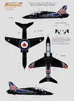 Xtradecal X48078 1/48 Hawk T.1 208(R)SQ 2009 Display Aircraft Model Decals - SGS Model Store