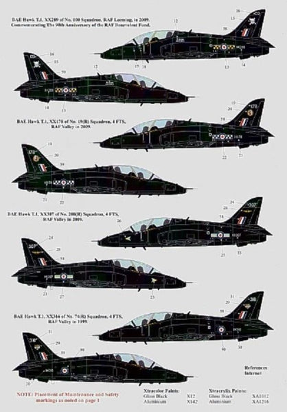 Xtradecal X48079 1/48 BAe Hawk T.1 2009 100 Years of Naval Aviation Model Decals - SGS Model Store