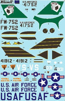 Xtradecal X48081 1/48 North-American F-100C Super Sabre Model Decals - SGS Model Store
