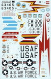 Xtradecal X48083 1/48 North-American F-100D Super Sabre Pt 1 Model Decals - SGS Model Store