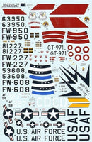 Xtradecal X48088 1/48 F-100F Super Sabre Pt.1.Two Seaters Model Decals - SGS Model Store