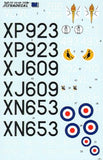 Xtradecal X48089 1/48 de Havilland Sea Vixen FAW.2 Model Decals - SGS Model Store