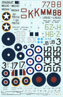 Xtradecal X48094 1/48 Supermarine Seafire Model Decals - SGS Model Store