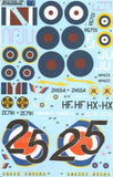 Xtradecal X48096 1/48 RAF 111 Squadron History Part 1 Model Decals - SGS Model Store