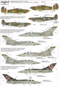 Xtradecal X48096 1/48 RAF 111 Squadron History Part 1 Model Decals - sgs-model-store-com