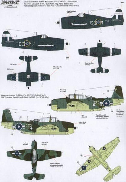 Xtradecal X48104 1/48 Yanks with Roundels Part 3 in the FAA Model Decals - SGS Model Store