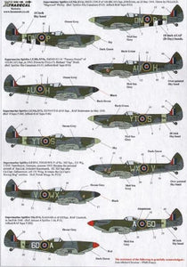 Xtradecal X48128 1/48 Supermarine Spitfire LF.Mk.XVIe Part 2 Model Decals - SGS Model Store