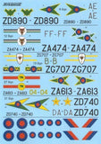 Xtradecal X48135 1/48 Panavia Tornado GR.1 / GR.1A Pt.2 Model Decals - SGS Model Store