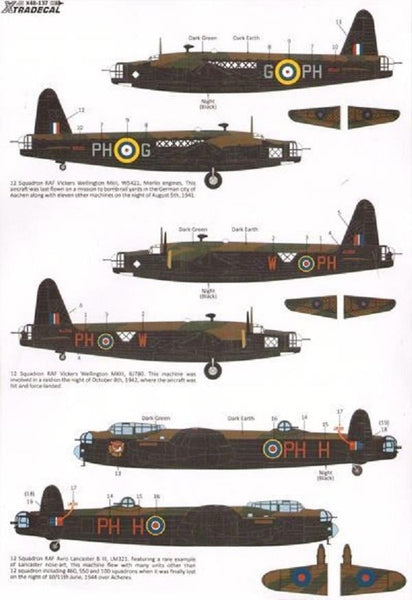 Xtradecal X48137 1/48 12 Sqn History to 2014 Model Decals - SGS Model Store