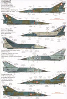 Xtradecal X48142 1/48 Dassault Mirage III Model Decals - SGS Model Store
