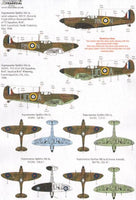 Xtradecal X48143 1/48 Spitfire Mk.Ia Battle of Britain 1940 Pt.1 Model Decals - SGS Model Store