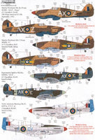 Xtradecal X48149 1/48 Fighters over N Africa and the Med Pt.1 Model Decals - SGS Model Store