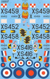Xtradecal X48152 1/48 BAC/EE Lightning T.5 Model Decals - sgs-model-store-com