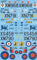 Xtradecal X48153 1/48 BAC/EE Lightning T.4/T.5 Model Decals - SGS Model Store