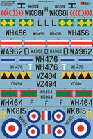 Xtradecal X48159 1/48 Gloster Meteor F.8 Collection Pt 2 Model Decals - SGS Model Store