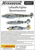 Xtradecal X48167 1/48 Luftwaffe Reconnaissance Fighters Model Decals - SGS Model Store