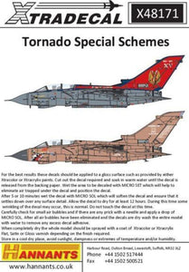 Xtradecal X48171 1/48 Panavia Tornado GR.4 Special Schemes Model Decals - SGS Model Store