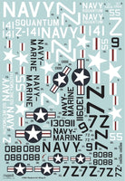 Xtradecal X48184 1/48 U.S. Navy Reserve Air Wing 91 Model Decals - SGS Model Store