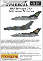 Xtradecal X48204 1/48 RAF Panavia Tornado GR.4 Retirement Schemes Model Decals - SGS Model Store