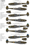 Xtradecal X48215 1/48 Lockheed P-38F/G/H Lightning Collection Pt.2
