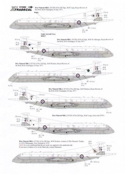 Xtradecal X72080 1/72 BAe Nimrod MR.1 Model Decals - SGS Model Store