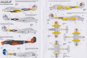 Xtradecal X72087 1/72 Gloster Meteor T.7 Model Decals