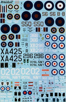 Xtradecal X72108 Fleet Air Arm / FAA 815 RNAS 1942-2009 Model Decals