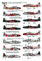 Xtradecal X72122 1/72 Lockheed T-33A Part 3 Foreign Operators Model Decals - SGS Model Store