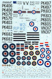 Xtradecal X72128 1/72 Supermarine Spitfire F.22 Model Decals - SGS Model Store