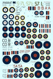 Xtradecal X72140 1/72 Yanks with Roundels Part 1 FAA Model Decals - SGS Model Store