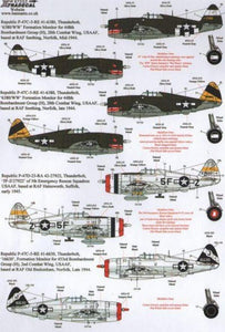 Xtradecal X72153 1/72 War Weary P-47D Thunderbolts Model Decals - SGS Model Store