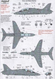Xtradecal X72168 1/72 BAe Hawk Maintenance Data Model Decals - SGS Model Store