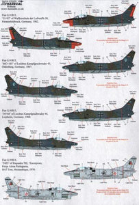 Xtradecal X72175 1/72 Fiat G.91 Model Decals - SGS Model Store