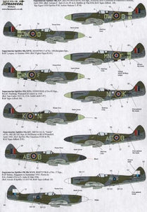 Xtradecal X72178 1/72 Supermarine Spitfire Mk.XIV Model Decals - SGS Model Store