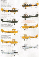 Xtradecal X72190 1/72 de Havilland DH.82 Tiger Moth Model Decals - SGS Model Store