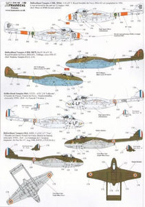 Xtradecal X72192 1/72 DH 100 Vampire Overseas Users Model Decals