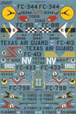 Xtradecal X72198 1/72 Convair F-102A Delta Dagger Part 2 Model Decals