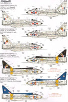Xtradecal X72200 1/72 BAC/EE Lightning T.4/T.5 Part 1 Model Decals - SGS Model Store