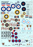 Xtradecal X72208 1/72 History of 12 Squadron 1915-2014 Model Decals - SGS Model Store