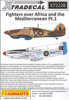 Xtradecal X72228 1/72 Fighters Over Africa and Mediterranean Pt.1 Model Decals - SGS Model Store