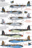 Xtradecal X72232 1/72 de Havilland Mosquito T.III B.IV, FB.VI, B.XX Model Decals