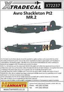 Xtradecal X72237 1/72 Avro Shackleton MR.2 Pt 2 Model Decals - SGS Model Store