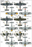 Xtradecal X72261 1/72 Focke-Wulf Fw-190 Stab markings Pt 1 Model Decals - SGS Model Store