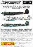 Xtradecal X72262 1/72 Focke Wulf Fw-200 Condor Model Decals - SGS Model Store