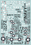 Xtradecal X72284 1/72 USN Reserve Air Wing 91 Model Decals