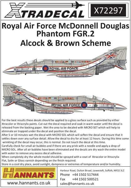 Xtradecal X72297 1/72 RAF FGR.2 Phantom Pt.8 Model Decals - SGS Model Store