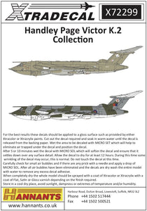 Xtradecal X72299 1/72 Handley-Page Victor K.2 Collection Model Decals