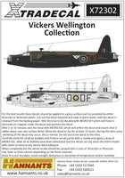 Xtradecal X72302 1/72 Vickers Wellington Mk.I Model Decals - SGS Model Store