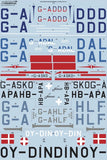 Xtradecal X72312 1/72 de Havilland Dominie/Rapide in Civilian Service Model Decals - SGS Model Store